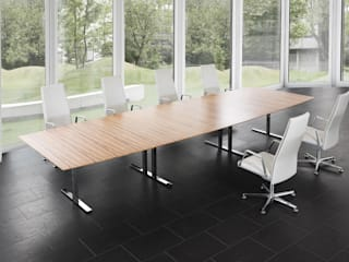 .intra die wandelbaren Tischanlagen Moderne Bürogebäude von Spiegels GmbH & Co. KG Modern