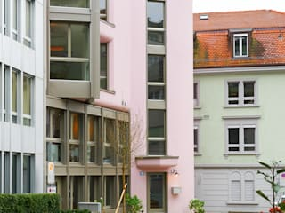 Ansicht von der Quartierstrasse Nord:  Häuser von Käferstein & Meister   Dipl. Architekten ETH BSA SIA