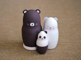 Famille petit Panda Prune:  de style  par Mes ptits bidules