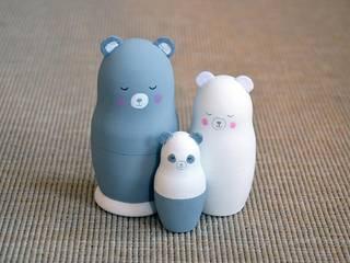 Famille petit Panda Grise:  de style  par Mes ptits bidules