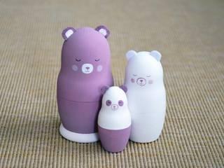Famille petit Panda Oursin:  de style  par Mes ptits bidules