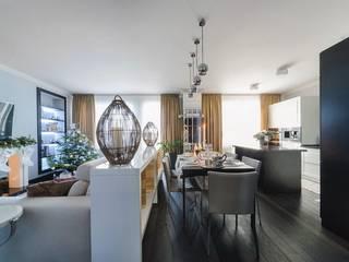 Projekty,  Jadalnia zaprojektowane przez Angelika Moroz interior design ,