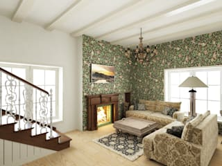 Eclectic DesignStudio Eclectic style living room
