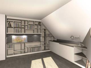 Agencement d'une bibliothèque par J'ose - Architecte d'intérieur Moderne