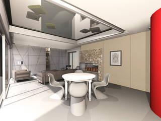 Etude de la configuration intérieure d'une maison contemporaine Salle à manger moderne par J'ose - Architecte d'intérieur Moderne