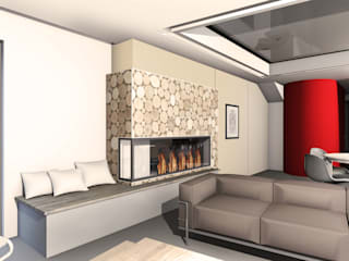 Etude de la configuration intérieure d'une maison contemporaine Salon moderne par J'ose - Architecte d'intérieur Moderne