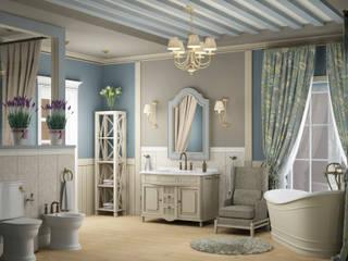 Eclectic DesignStudio Country style bathroom