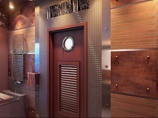 Industrial style bathroom by Architoria 3D Industrial