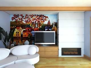 Salas de estilo escandinavo de Андреева Валентина Escandinavo