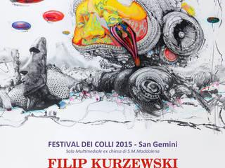"""""""ARCHITECTURE OF DESIRE"""" EXHIBITION - FESTIVAL DEL COLLI SAN GEMINI - ITALY - 2015 od Filip Kurzewski Nowoczesny"""