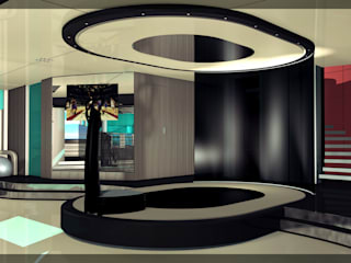 Superyacht (85m) Stretching/Yoga/Entertainment Stage: modern Gym by Mark Healy Fitness Management