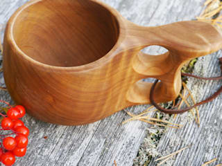 Scandinavian Wooden Cup:   by Cairn Wood Design Ltd