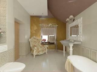 Интерьер индивидуального жилого дома для троих человек. Ванная в классическом стиле от Андреева Валентина Классический