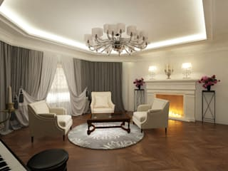 Eclectic DesignStudio Classic style living room