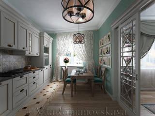 Cocinas de estilo clásico de студия Виталии Романовской Clásico