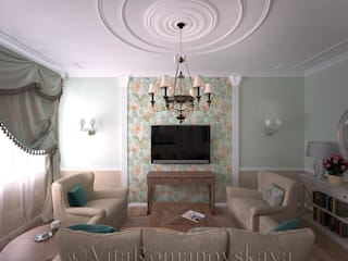 Salas de estilo clásico de студия Виталии Романовской Clásico