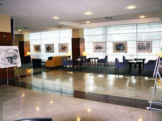 """ARCHITECTURE OF DESIRE"" MARRIOT COURTYARD AIRPORT HOTEL EXHIBITION od Filip Kurzewski Nowoczesny"