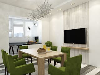 Eclectic DesignStudio Minimalist dining room