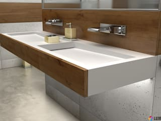 Modern bathroom created by Luxum Modern bathroom by Luxum Modern
