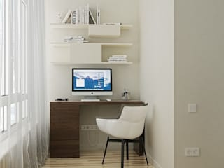 Минимализм для холостяка: Рабочие кабинеты в . Автор – Kristina Petraitis Design House