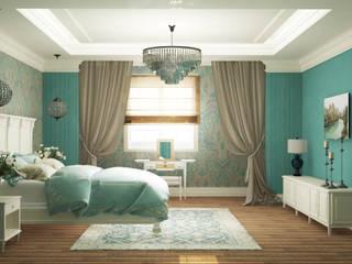 Eclectic DesignStudio Classic style bedroom