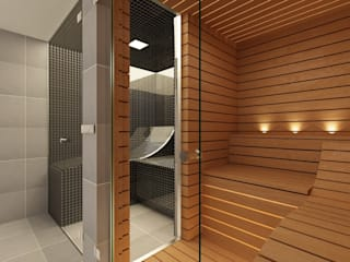 Bespoke Steam Room and Sauna - Effegibi Steam and Sauna Innovation Ванна кімната
