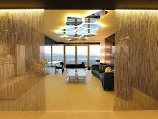 Private residence in İstanbul Modern Oturma Odası Orkun İndere Interiors Modern