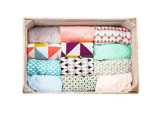 moKee Minky Tuck Blanket:   by moKee