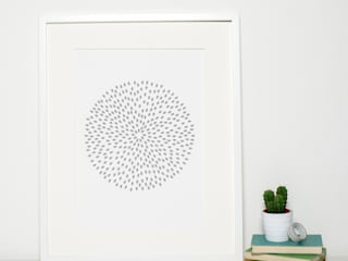 Grey Circle Print:   by Sweet Oxen