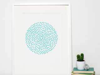 Modern Turquoise Circle Print:  Artwork by Sweet Oxen