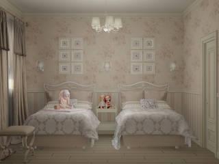 Eclectic DesignStudio Country style nursery/kids room