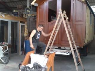 Roulotte en bois Chambre rustique par Art Live Rustique