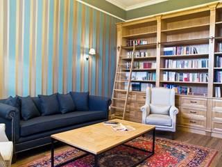 Dworek Mennonicki 1880 r : styl , w kategorii Domowe biuro i gabinet zaprojektowany przez PROJEKT MB