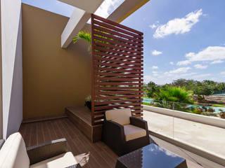 Casa Manantiales: Terrazas de estilo  por Enrique Cabrera Arquitecto