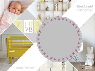 Vloerkleed Kisses in de babykamer:   door Evelien Lulofs