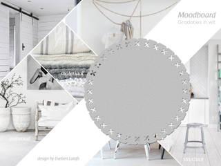 Vloerkleed Kisses in een wit interieur:   door Evelien Lulofs