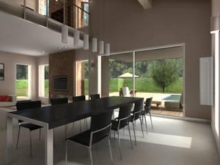 Villa Privata Soggiorno moderno di Diorama Snc Moderno