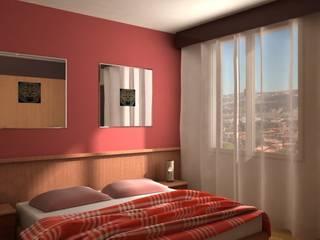 Villa Privata Camera da letto moderna di Diorama Snc Moderno