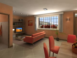 Casa Privata: Soggiorno in stile  di Diorama Snc