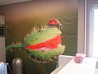fotobehang insect en plant keuken door kleurmijninterieurnl