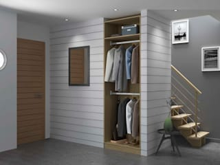 Modern Corridor, Hallway and Staircase by Centimetre.com Modern