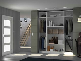 Centimetre.com Minimalist corridor, hallway & stairs