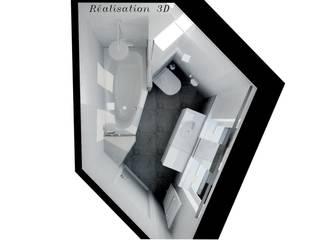 Plan en 3D: Salle de bains de style  par les bains et les cuisines d'Alexandre