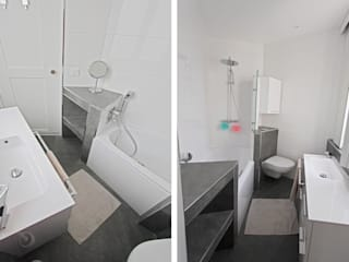 r: Salle de bains de style  par les bains et les cuisines d'Alexandre
