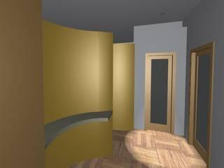 Ingresso Studio professionale con parete curva: Studio in stile  di Architettura Design Napoli