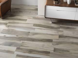 Wood effect floor tiles Acadia Grigio 22,5x90 homify Walls & flooringTiles