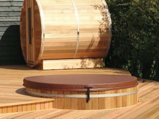 Northern lights Hot Tubs and Saunas Cedar Hot Tubs UK Jardines de estilo ecléctico