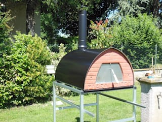 Outdoor Wood fired pizza oven Pizzone 3-4 pizzas by Pizza Party de Genotema SRL Unipersonale Rústico