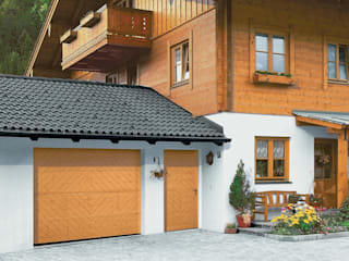 Timber Garage Doors de The Garage Door Centre Limited Escandinavo