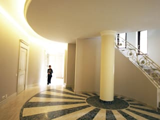JOL-wnętrza Classic style corridor, hallway and stairs